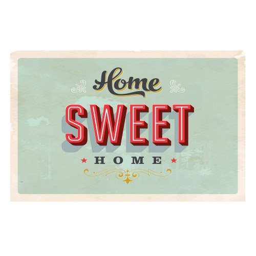 Vinyl Teppich MATTEO 90x135 cm Home Sweet Home