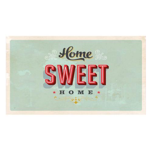 Vinyl Teppich MATTEO 90x160 cm Home Sweet Home