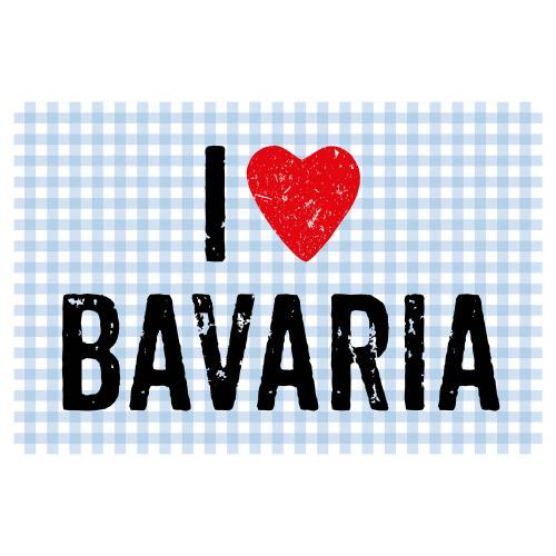 Matteo Vinyl Teppich 60x90 cm I LOVE BAVARIA