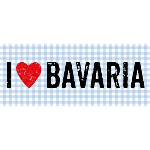 Matteo Vinyl Teppich 50x120 cm I LOVE BAVARIA
