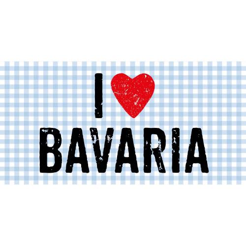 Matteo Vinyl Teppich 70x140 cm I LOVE BAVARIA
