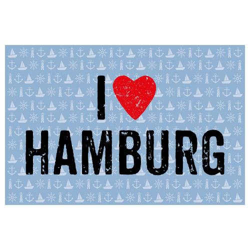 Matteo Vinyl Teppich 60x90 cm I LOVE HAMBURG