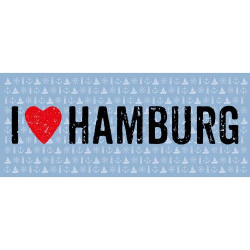 Matteo Vinyl Teppich 50x120 cm  I LOVE HAMBURG