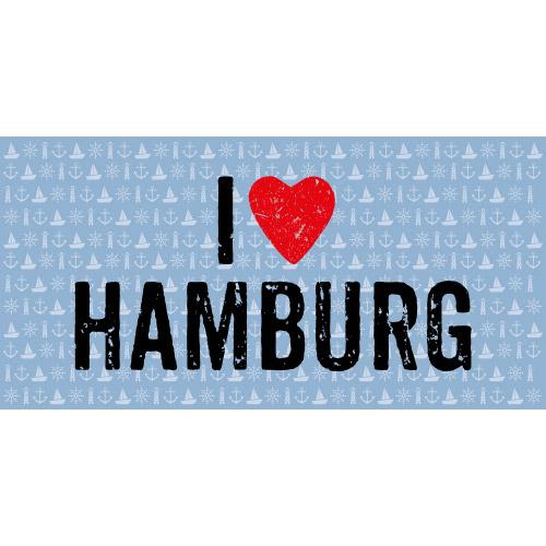 Matteo Vinyl Teppich 70x140 cm  I LOVE HAMBURG