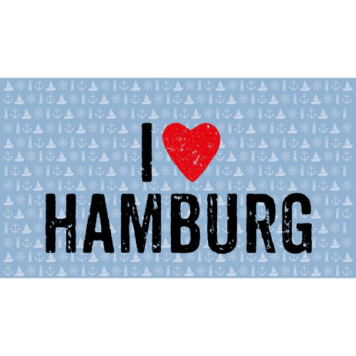 Matteo Vinyl Teppich 90x160 cm I LOVE HAMBURG