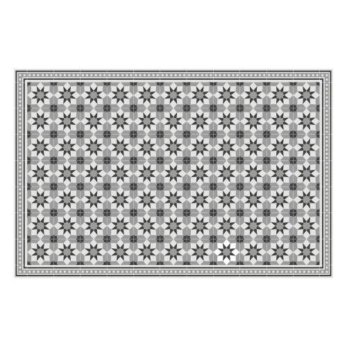 Vinyl Teppich MATTEO 118x180 cm Fliesen 6 Grau