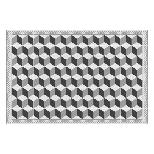 Vinyl Teppich MATTEO 90x135 cm Fliesen 3 Grau