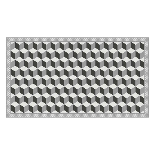Vinyl Teppich MATTEO 90x160 cm Fliesen 3 Grau