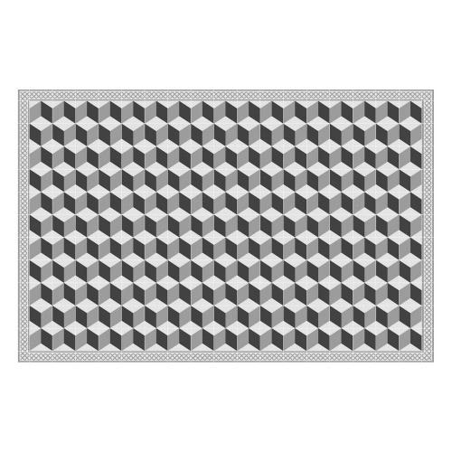 Vinyl Teppich MATTEO 118x180 cm Fliesen 3 Grau