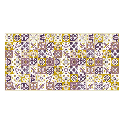 Vinyl Teppich MATTEO 70x140 cm Mosaik Lila-Ocker