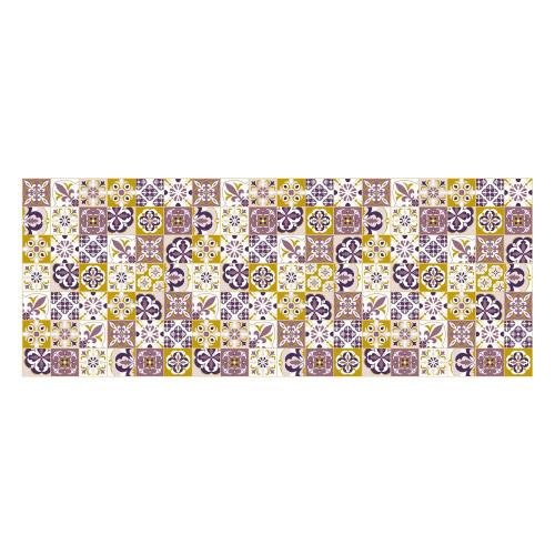 Vinyl Teppich MATTEO 70x180 cm Mosaik Lila-Ocker