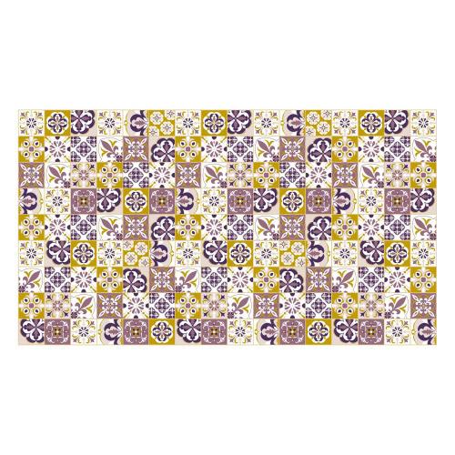 Vinyl Teppich MATTEO 90x160 cm Mosaik Lila-Ocker