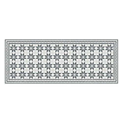 Vinyl Teppich MATTEO 70x180 cm Fliesen Grau