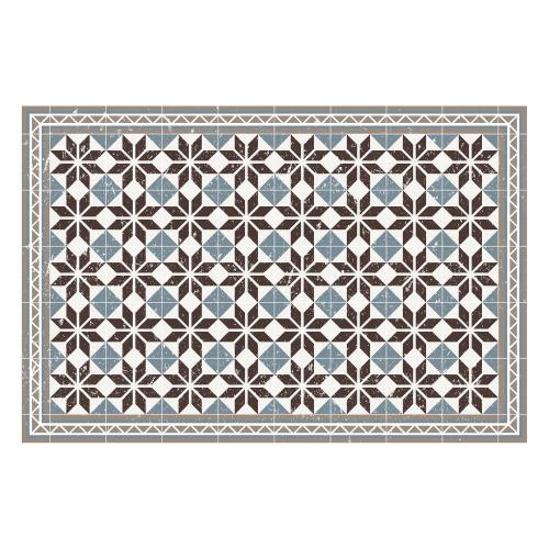 Vinyl Teppich MATTEO 90x135 cm Fliesen Blau