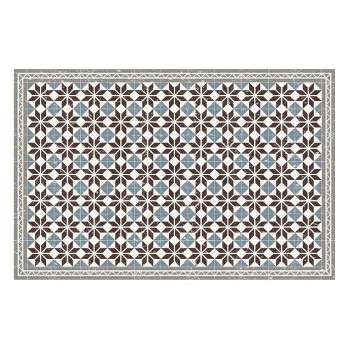 Vinyl Teppich MATTEO 118x180 cm Fliesen Blau