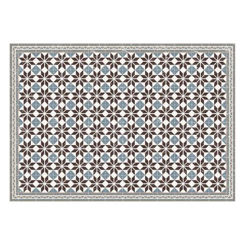 Vinyl Teppich MATTEO 140x200 cm Fliesen Blau