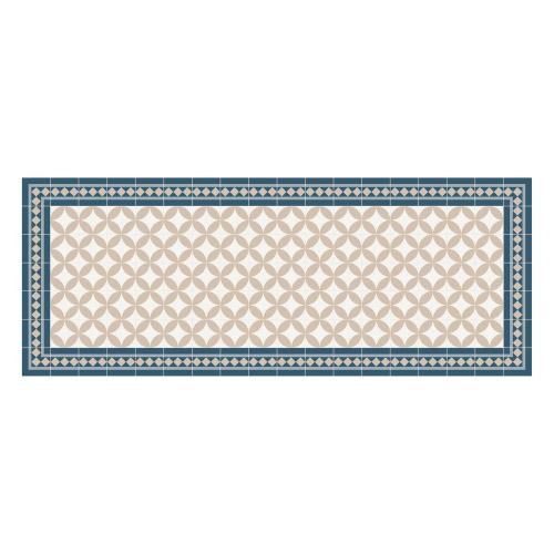 Vinyl Teppich MATTEO 70x180 cm Fliesen 2 Blau