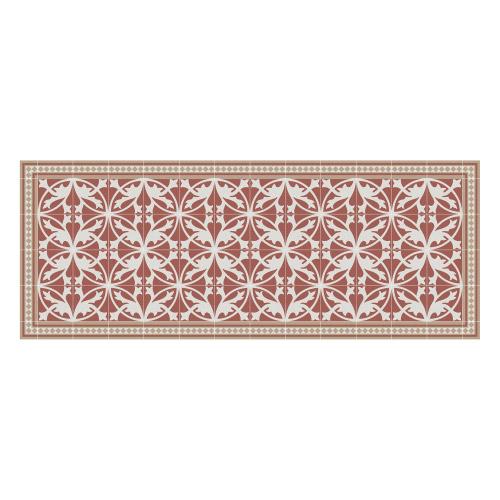 Vinyl Teppich MATTEO 70x180 cm Fliesen 7 Rot