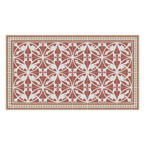 Vinyl Teppich MATTEO 90x160 cm Fliesen 7 Rot