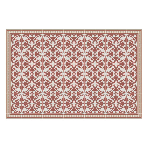Vinyl Teppich MATTEO 118x180 cm Fliesen 7 Rot