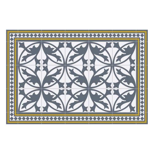 Vinyl Teppich MATTEO 40x60 cm Fliesen 7 Blau