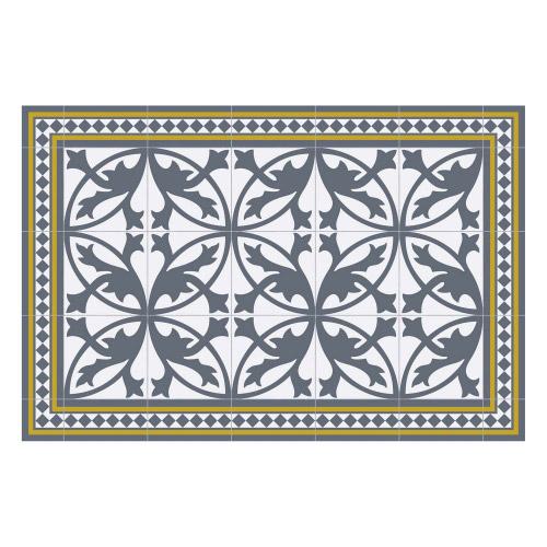 Vinyl Teppich MATTEO 60x90 cm Fliesen 7 Blau