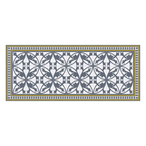 Vinyl Teppich MATTEO 50x120 cm Fliesen 7 Blau