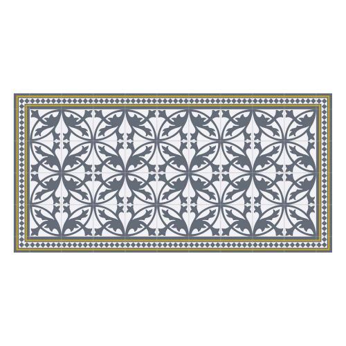 Vinyl Teppich MATTEO 70x140 cm Fliesen 7 Blau