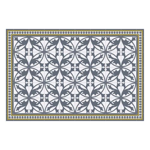 Vinyl Teppich MATTEO 90x135 cm Fliesen 7 Blau