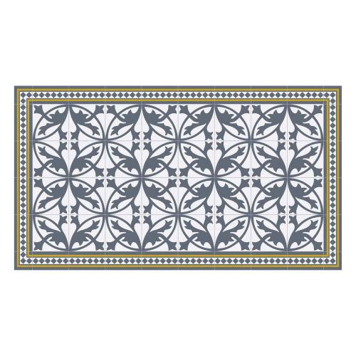 Vinyl Teppich MATTEO 90x160 cm Fliesen 7 Blau