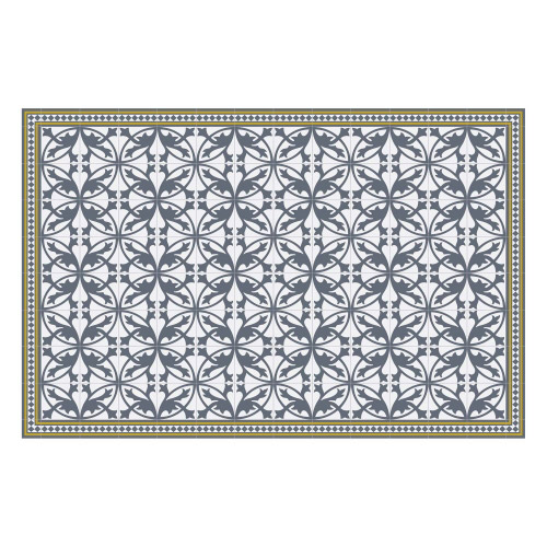 Vinyl Teppich MATTEO 118x180 cm Fliesen 7 Blau