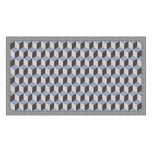 Vinyl Teppich MATTEO 90x160 cm Fliesen 3 Blau
