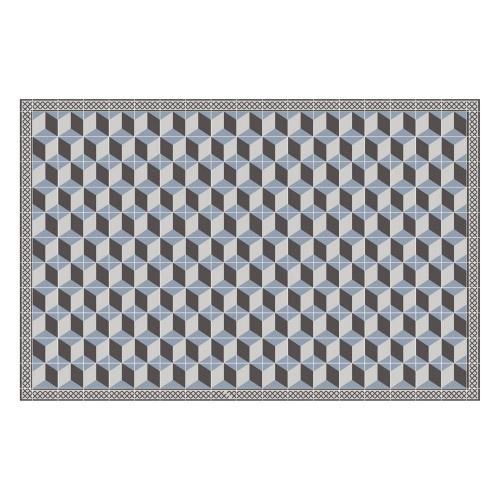 Vinyl Teppich MATTEO 118x180 cm Fliesen 3 Blau