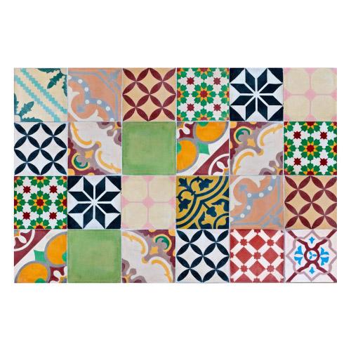 MATTEO Vinyl Teppich 60x90 cm - Mosaik Bunt 1