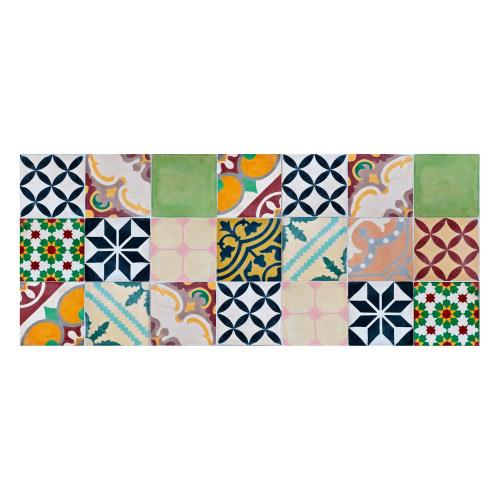 MATTEO Vinyl Teppich 50x120 cm - Mosaik Bunt 1