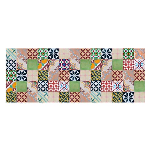 MATTEO Vinyl Teppich 70x180 cm - Mosaik Bunt 1