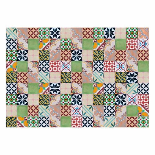 MATTEO Vinyl Teppich 140x200 cm - Mosaik Bunt 1