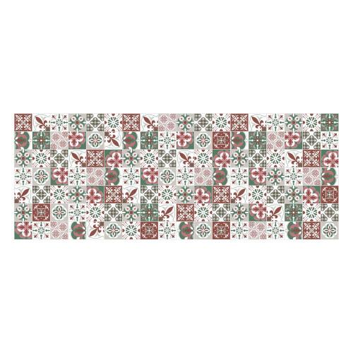 Vinyl Teppich MATTEO 70x180 cm Mosaik Grün