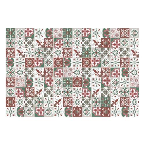 Vinyl Teppich MATTEO 90x135 cm Mosaik Grün