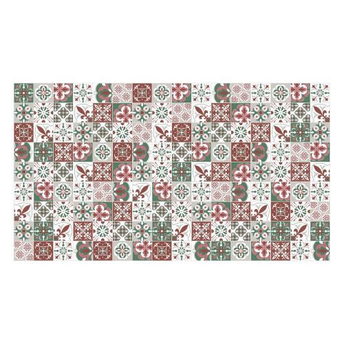 Vinyl Teppich MATTEO 90x160 cm Mosaik Grün