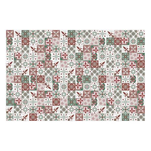 Vinyl Teppich MATTEO 118x180 cm Mosaik Grün
