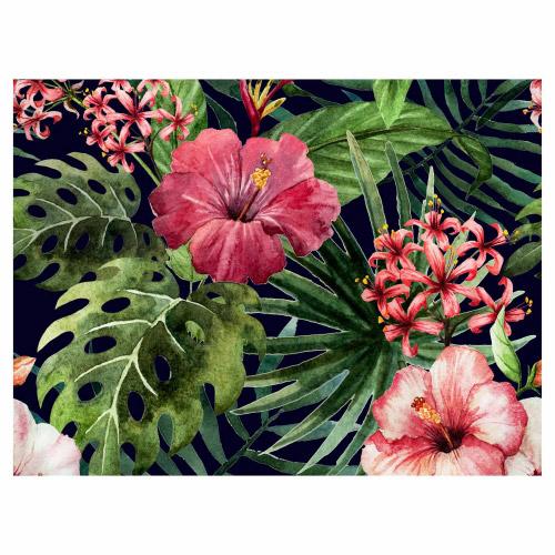 Tischset Vinyl Excotic Flower