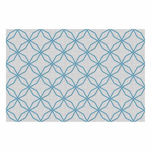 Vinyl Teppich MATTEO 40x60 cm Leinen 5 Blau
