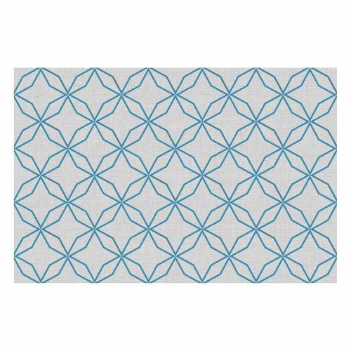 Vinyl Teppich MATTEO 60x90 cm Leinen 5 Blau