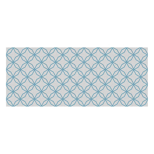 Vinyl Teppich MATTEO 50x120 cm Leinen 5 Blau