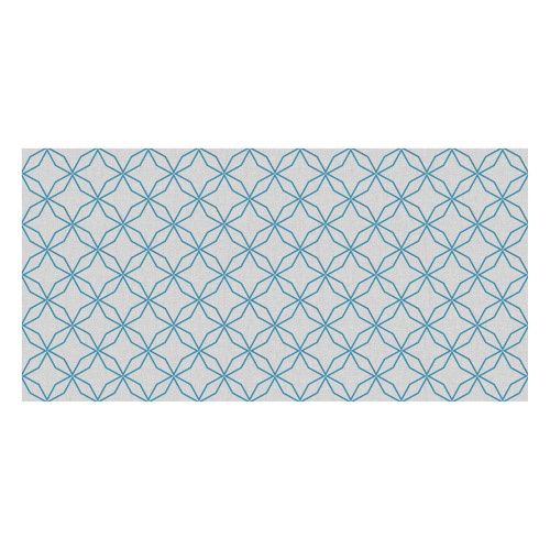 Vinyl Teppich MATTEO 70x140 cm Leinen 5 Blau