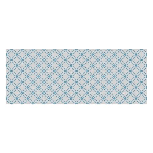 Vinyl Teppich MATTEO 70x180 cm Leinen 5 Blau