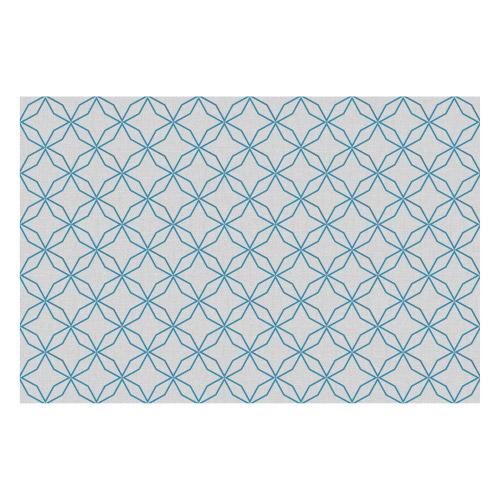 Vinyl Teppich MATTEO 90x135 cm Leinen 5 Blau