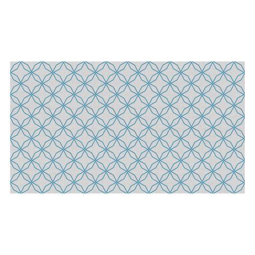 Vinyl Teppich MATTEO 90x160 cm Leinen 5 Blau