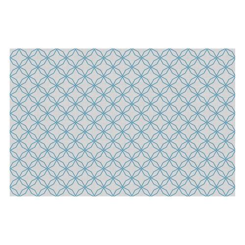 Vinyl Teppich MATTEO 118x180 cm Leinen 5 Blau